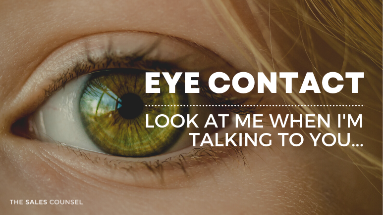 Eye Contact – Will you look at me?